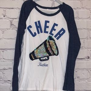 Cheer baseball-style shirt